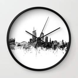 Lyon France Skyline Wall Clock