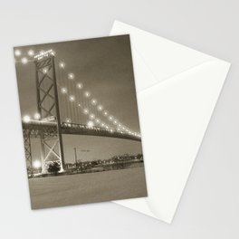 Ambassador Bridge at Night Stationery Cards