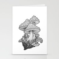 mushrooms Stationery Cards featuring Mushrooms by Sushibird