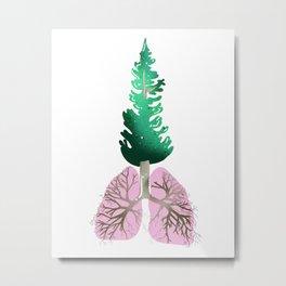 organic lungs Metal Print