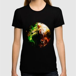 horse wild mane watercolor splatters T-shirt