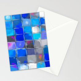 Mosaic / Abstract Art ' BLue SKieS ' BY SHiRLeY MacARTHuR Stationery Cards