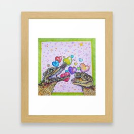 Caiman Kiss Framed Art Print