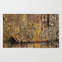 Yellow Wall Texture Rug