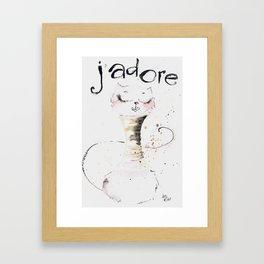 J`adore cat Framed Art Print