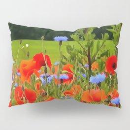 Poppies And Cornflowers Pillow Sham