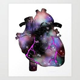 Galaxy Heart Art Print