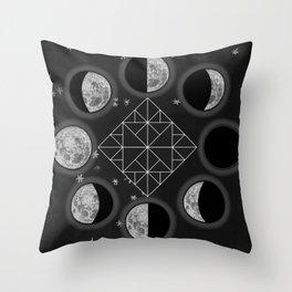 Moonhands Throw Pillow