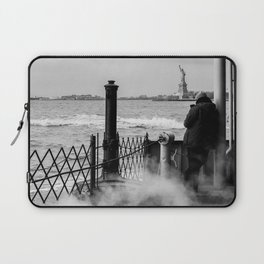 Liberty from the back of The Boat Laptop Sleeve