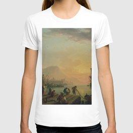 Claude-Joseph Vernet - A Calm at a Mediterranean Port T-shirt