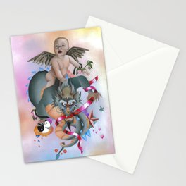 Cherub and Dragon Stationery Cards