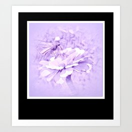Violet Tones For The Butterfly Art Print