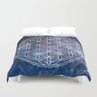 sacred geometry Duvet Covers featuring Sacred Geometry Universe 5 by Gaudy