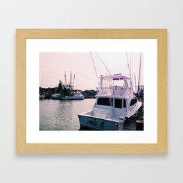 boats at shem creek Framed Art Print