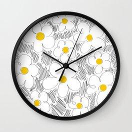 Wild daisy Wall Clock