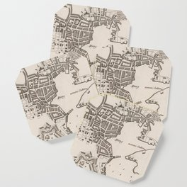 Vintage Map of Plymouth England (1764) Coaster