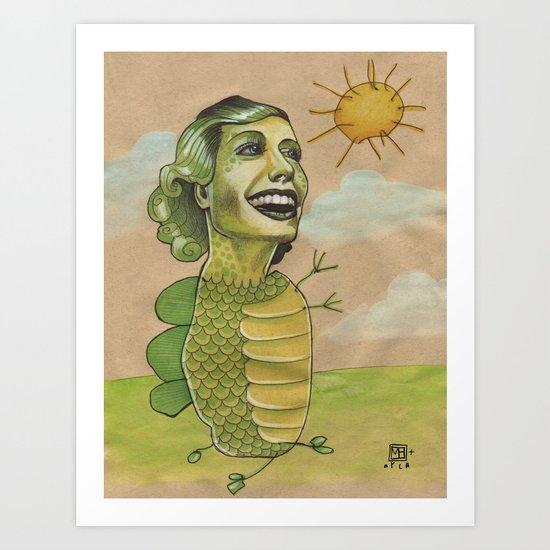 SUNSHINE DINO Art Print