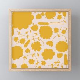 Floral yellow Framed Mini Art Print