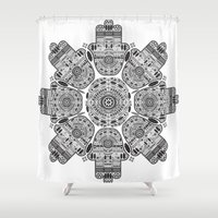 hamsa Shower Curtains featuring Hamsa by Paint it graphics