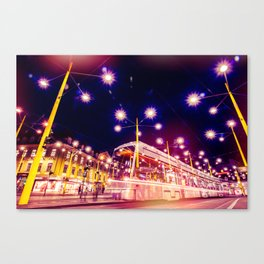 Night view of Station at  Graz , Austria. Canvas Print