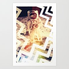 ON THE MOON Art Print