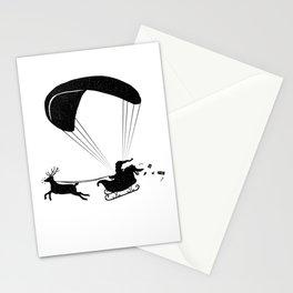 Happy Holidays - Paragliding Santa - Textless Stationery Cards