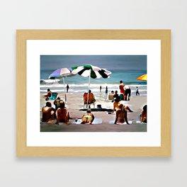 SoCal Beach Framed Art Print