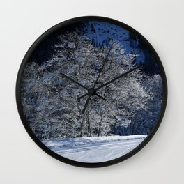 Hoarfrost And Snow Wall Clock