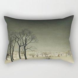Valerius de Saedeleer - View of Tiegem in winter Rectangular Pillow