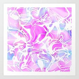 Pink Fashion Print Art Print