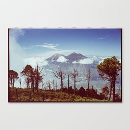 Volcanos Side by Side Canvas Print