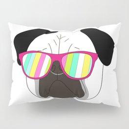 Pug,dog  with sunglasses illustration Pillow Sham