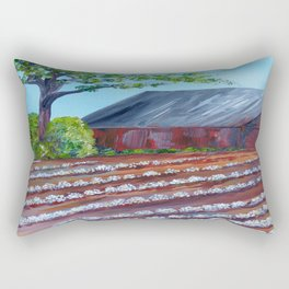 Rows of Cotton Rectangular Pillow