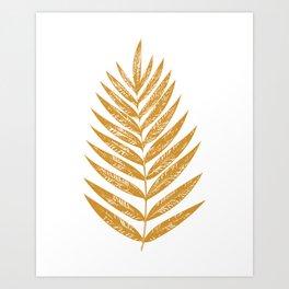 Golden Fern Art Print