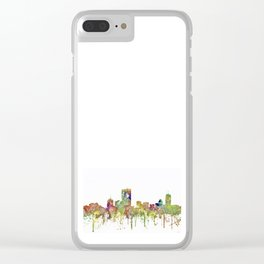 Boston, Massachusetts Skyline SG - Faded Glory Clear iPhone Case