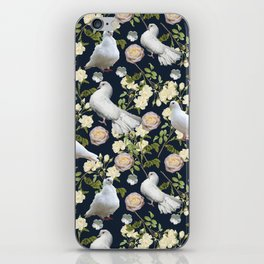 White Doves and Roses iPhone Skin