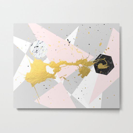 Gold Splatter #society6 #decor #buyart Metal Print