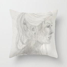 Rosamund Pike Throw Pillow