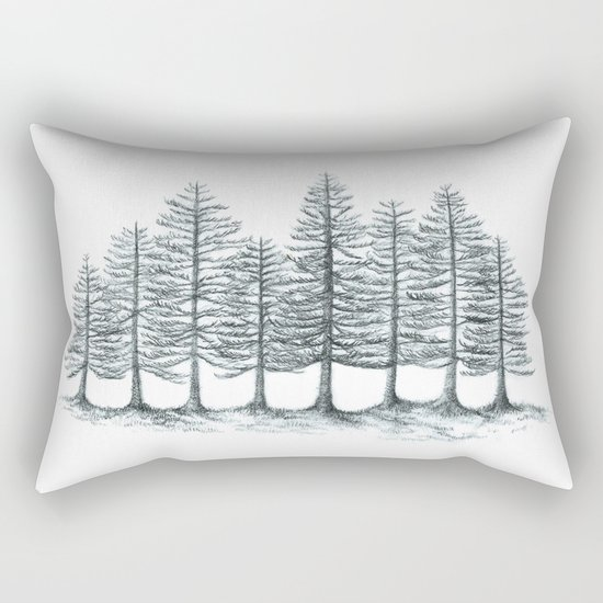 Old Pines  Rectangular Pillow