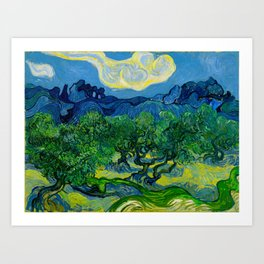 Olive Trees by Vincent Van Gogh Oil Painting Art Print