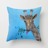 vegan Throw Pillows featuring VEGAN by RokinRonda