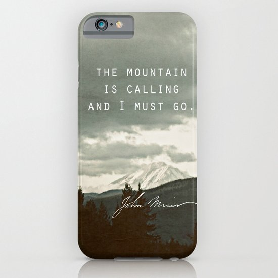 The Mountain is Calling iPhone & iPod Case