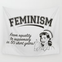 equality Wall Tapestries featuring Feminism - Equality to Supremacy by Anti Liberal Art