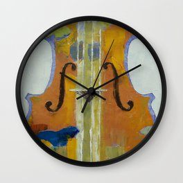 Violin Butterflies Wall Clock