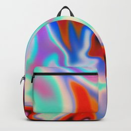Holographic Abstract Neon Backpack