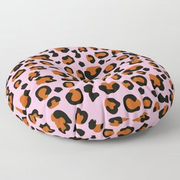 Jungle - Leopard Pattern Light Pink Floor Pillow