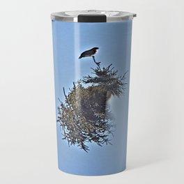 Last Night I Dreamed of Hawk Travel Mug