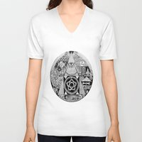 illuminati V-neck T-shirts featuring Illuminati by SAMMO