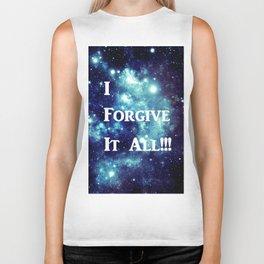 Turquoise Teal Galaxy : I Forgive It All Biker Tank