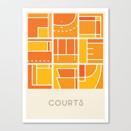 Courts (Sports Surfaces Series, No. 1) Canvas Print